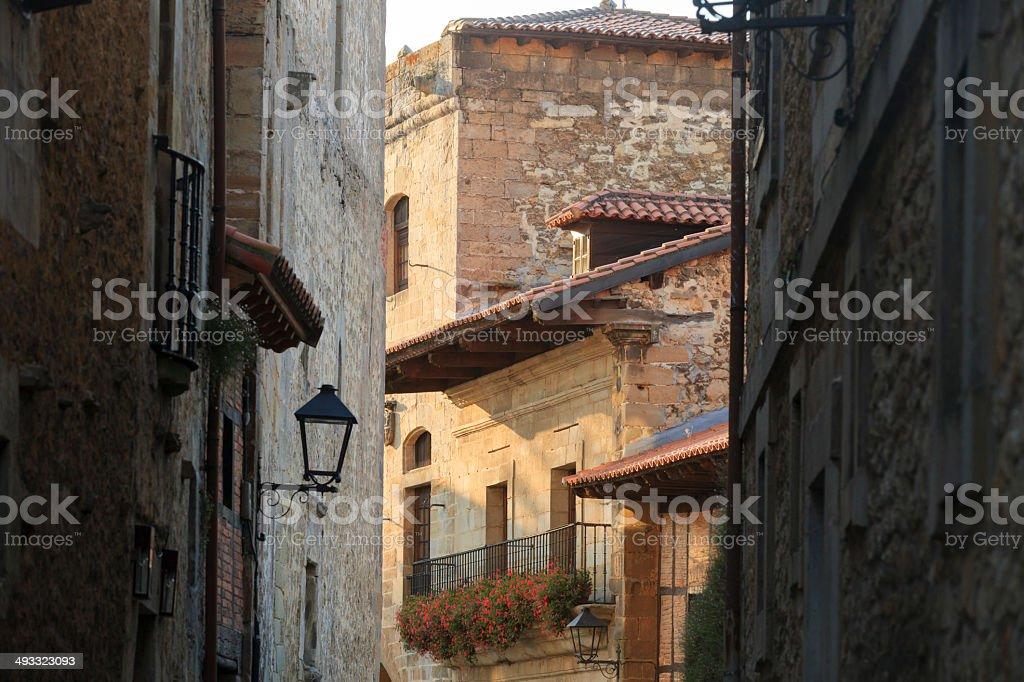 street at Santillana del Mar stock photo
