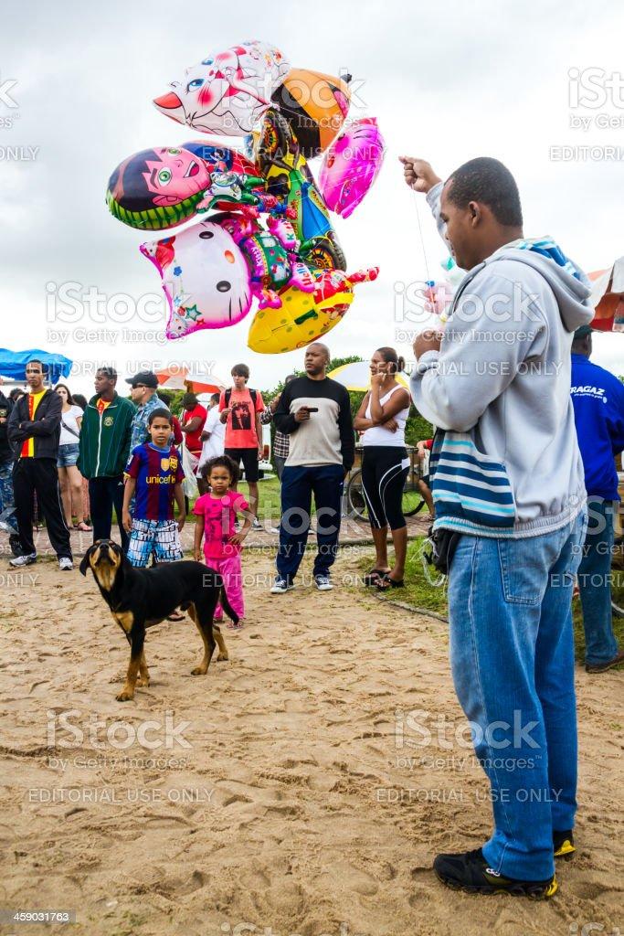 Street ballon vendor royalty-free stock photo