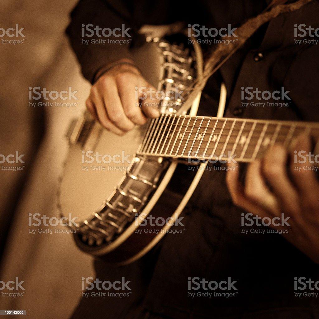 street banjo player royalty-free stock photo