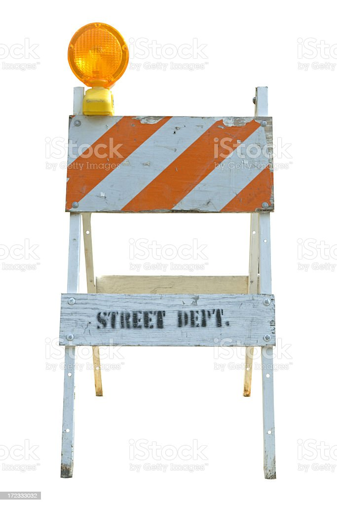 Street Barricade stock photo