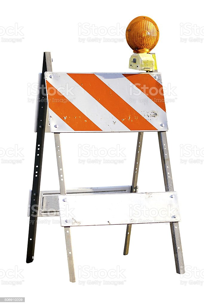 Street Barricade (Clipping Path) stock photo