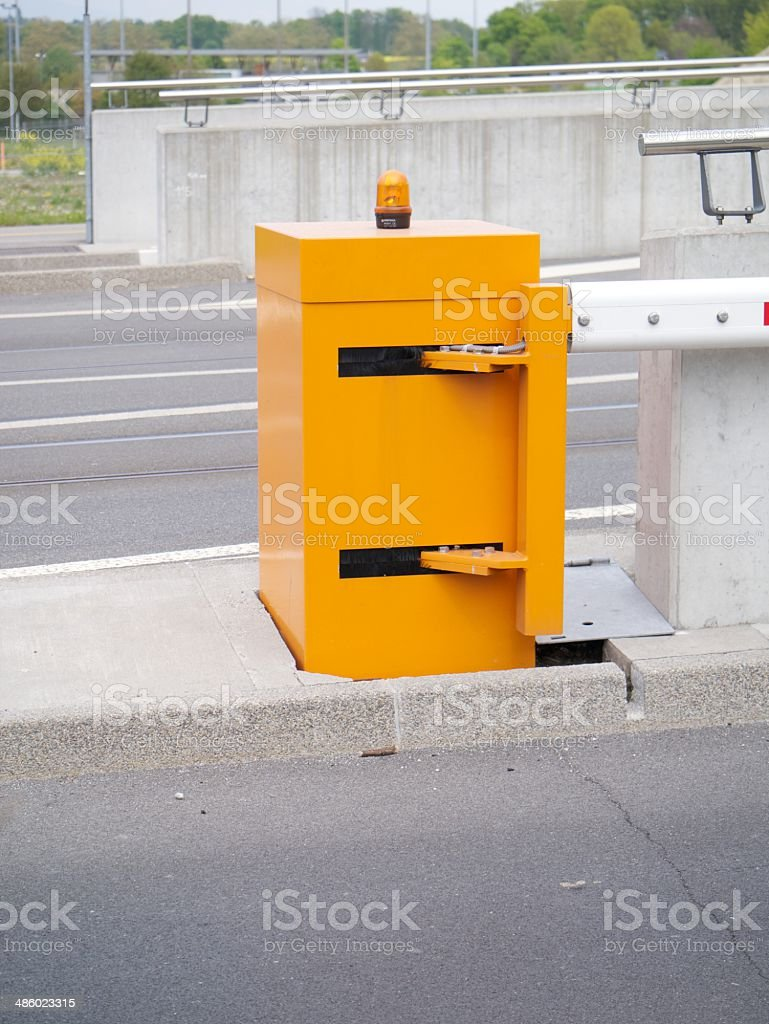 street barrier royalty-free stock photo