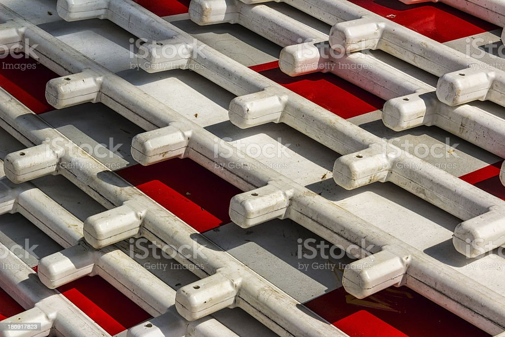 Street Barriers. Red and White royalty-free stock photo