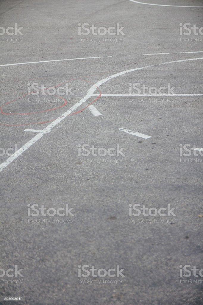 Street basketball court stock photo