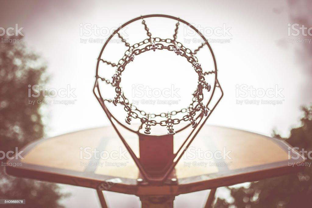 Street basketball hoop stock photo