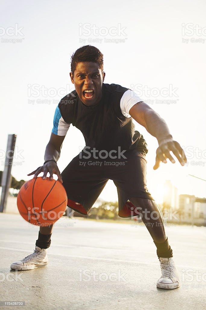 Street basketball player. stock photo