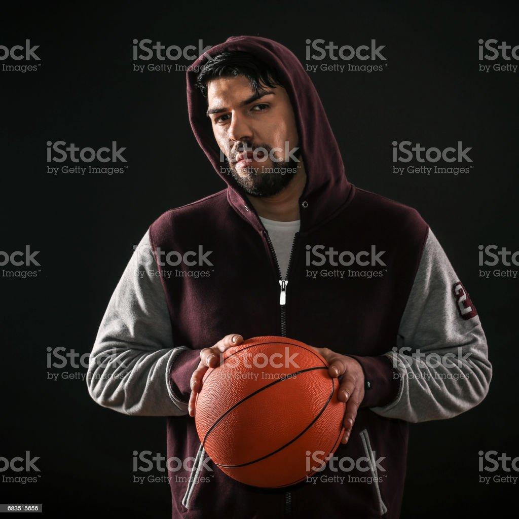 Street basketball player stock photo
