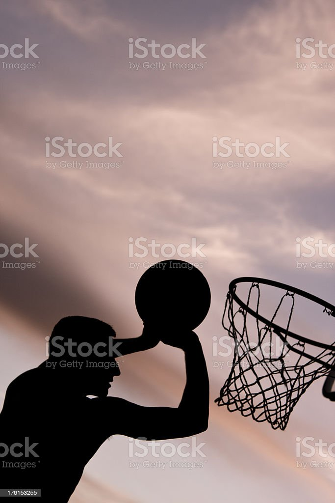 Street Basketball Silhouette stock photo