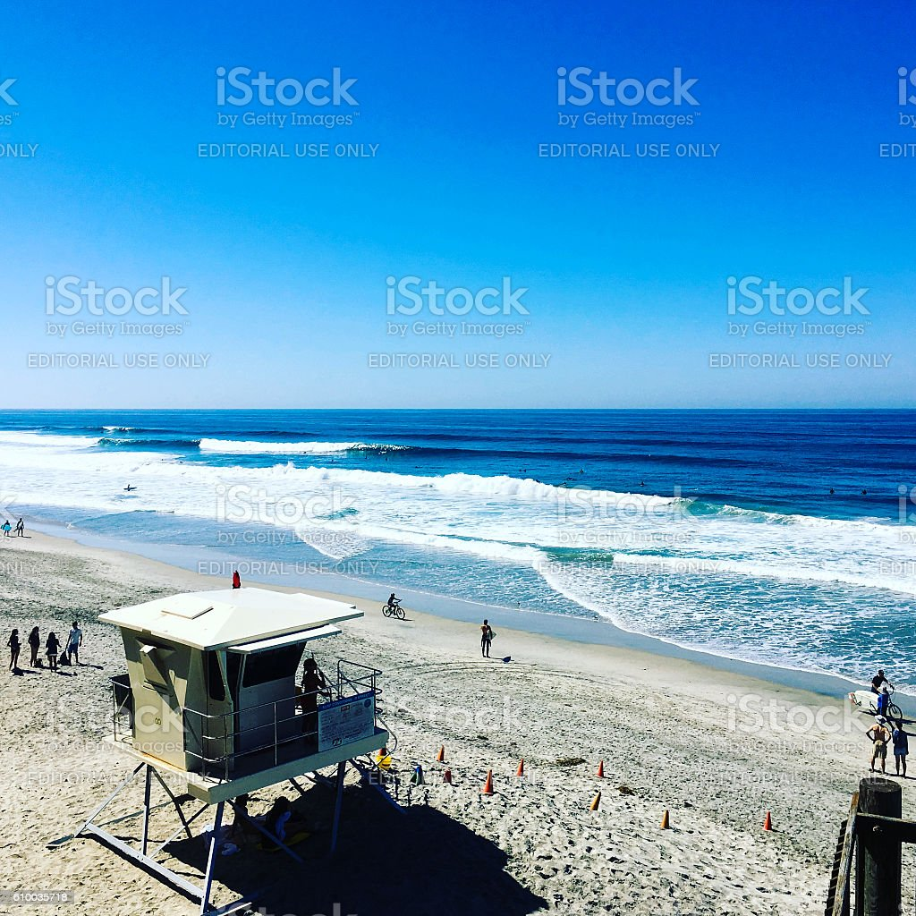 D Street Beach stock photo