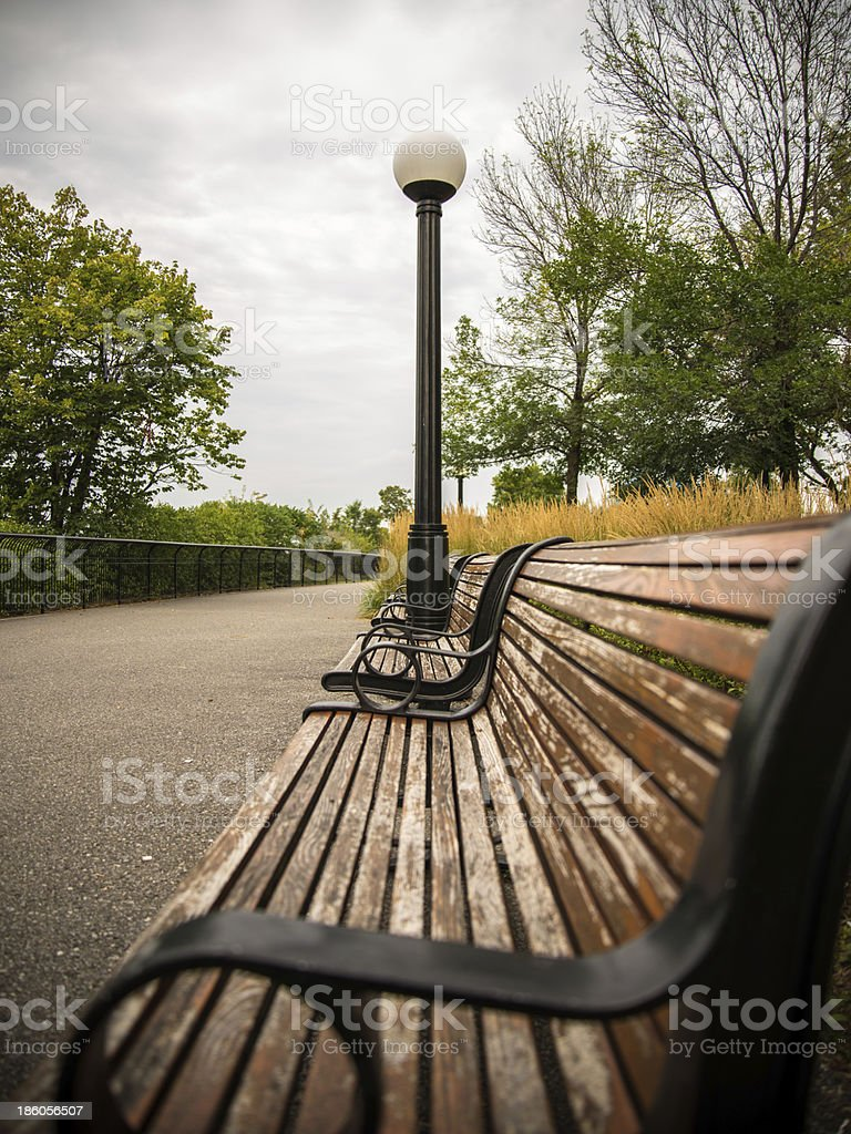 Street bench royalty-free stock photo