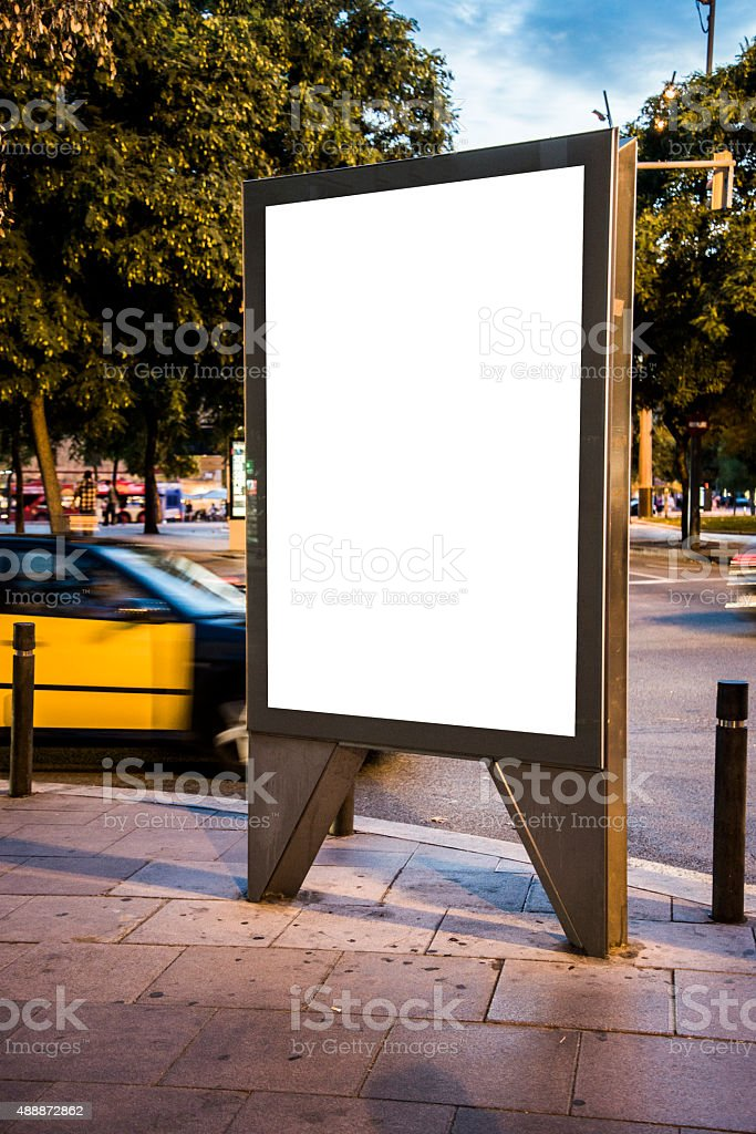 Street billboard with copy space stock photo