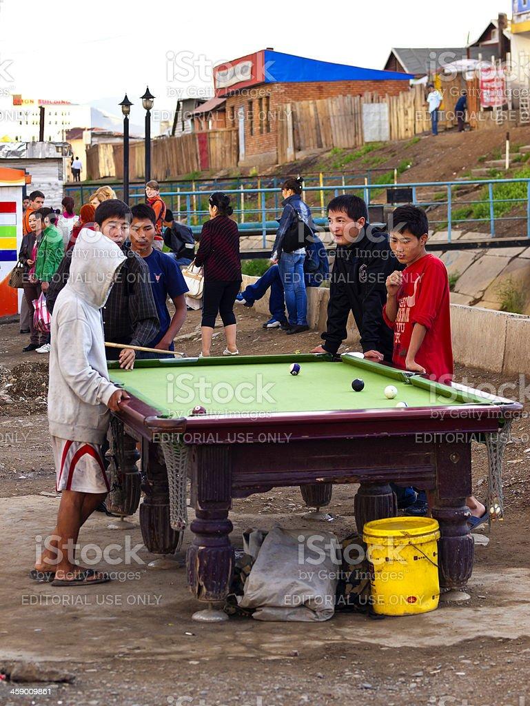 Street billiard royalty-free stock photo