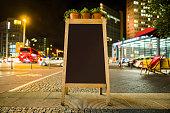 Street blackboard