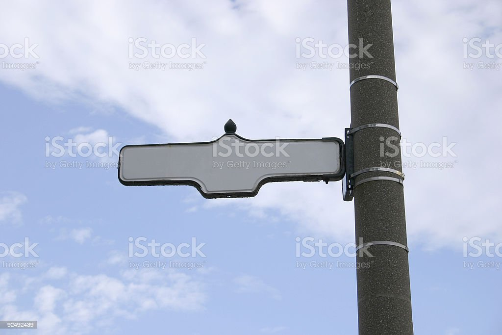 Street blank sign royalty-free stock photo