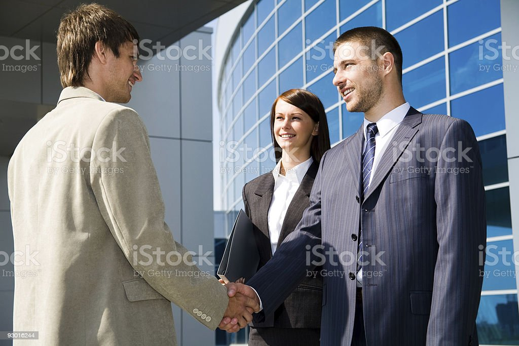 Street business meeting royalty-free stock photo
