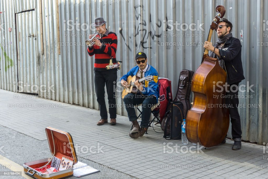 Street Busker stock photo