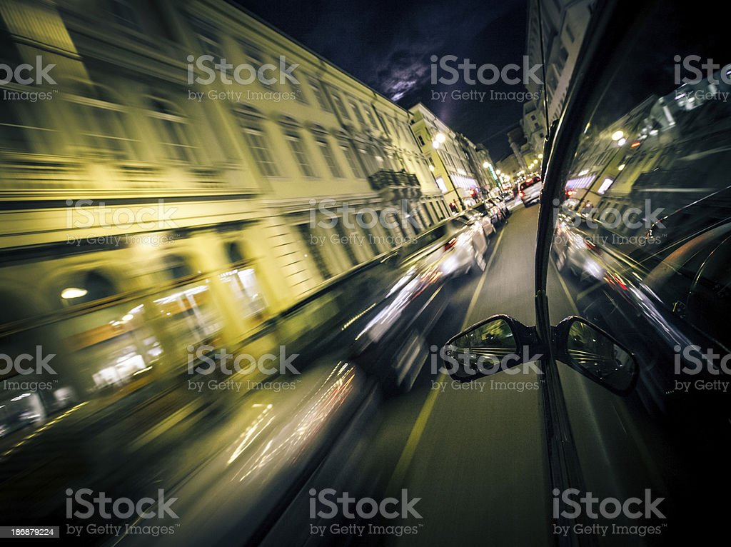 Street by night stock photo