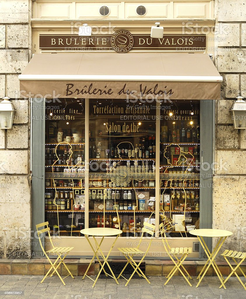 Street Cafe in Angouleme, France stock photo