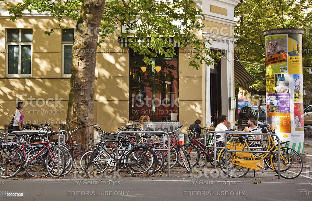 Street Cafe in Berlin royalty-free stock photo