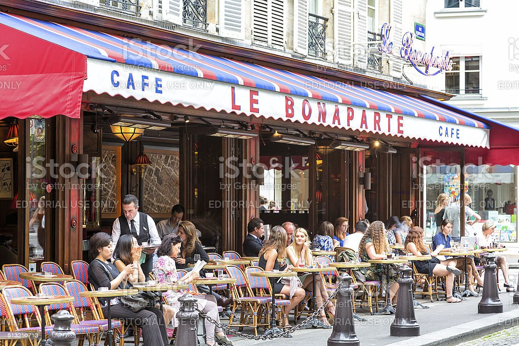 Street Cafe in Paris, France stock photo