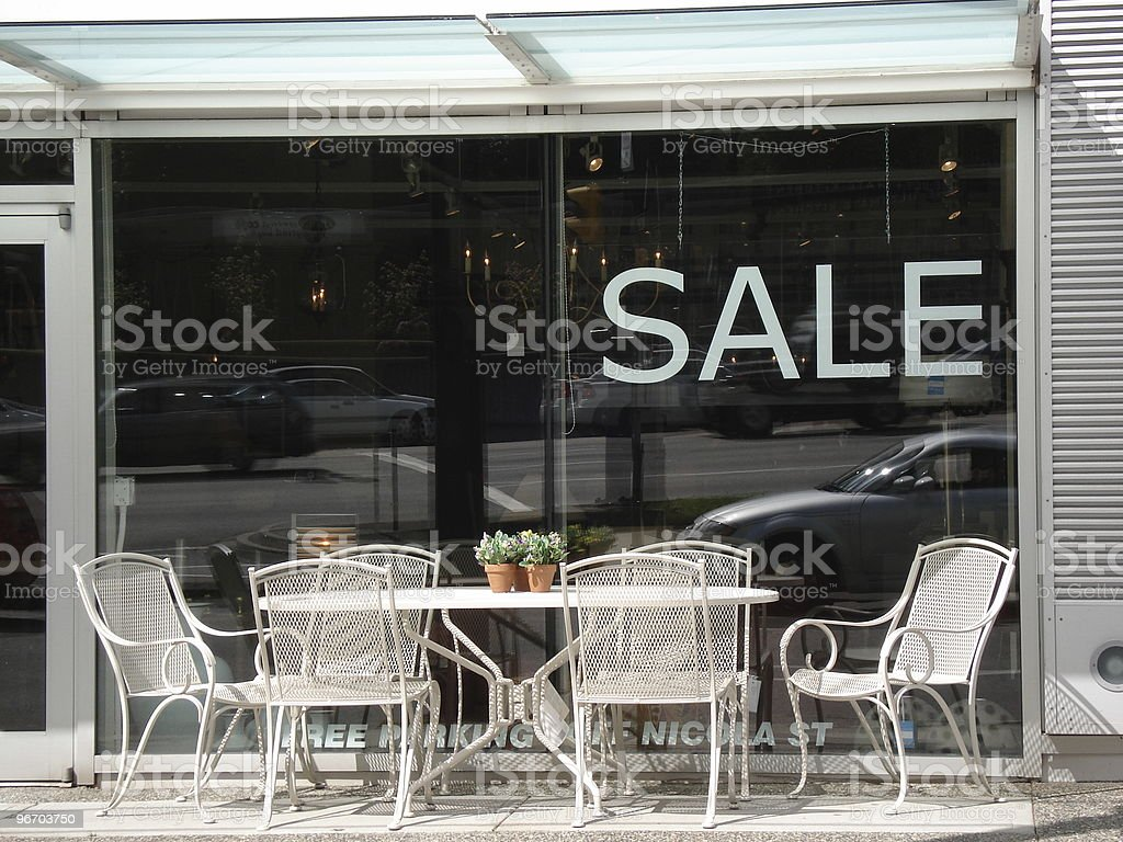 street cafe on sale royalty-free stock photo