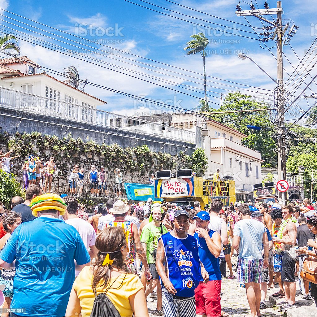Street carnival crowd. royalty-free stock photo