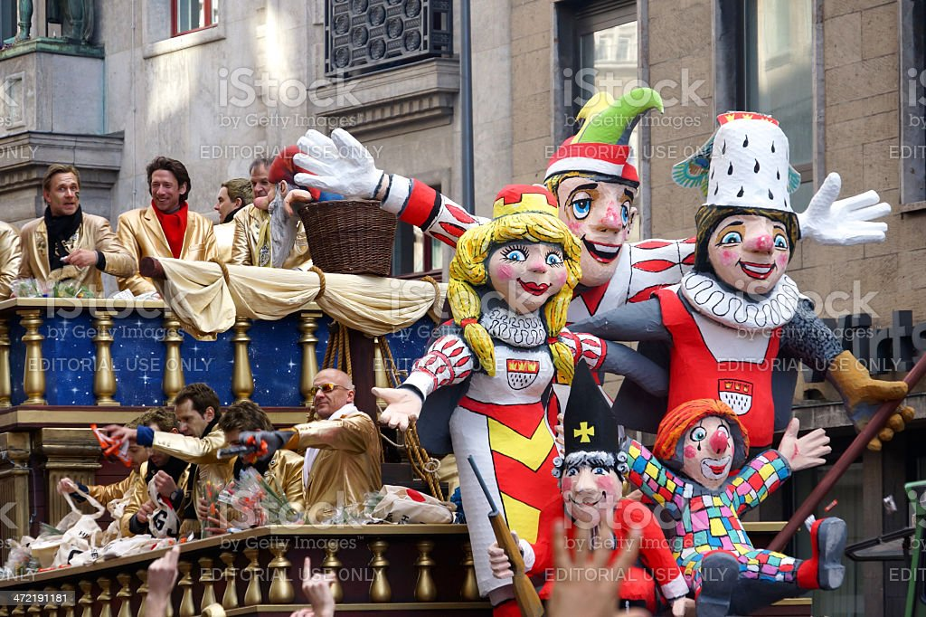 Street carnival in Cologne 2014 stock photo