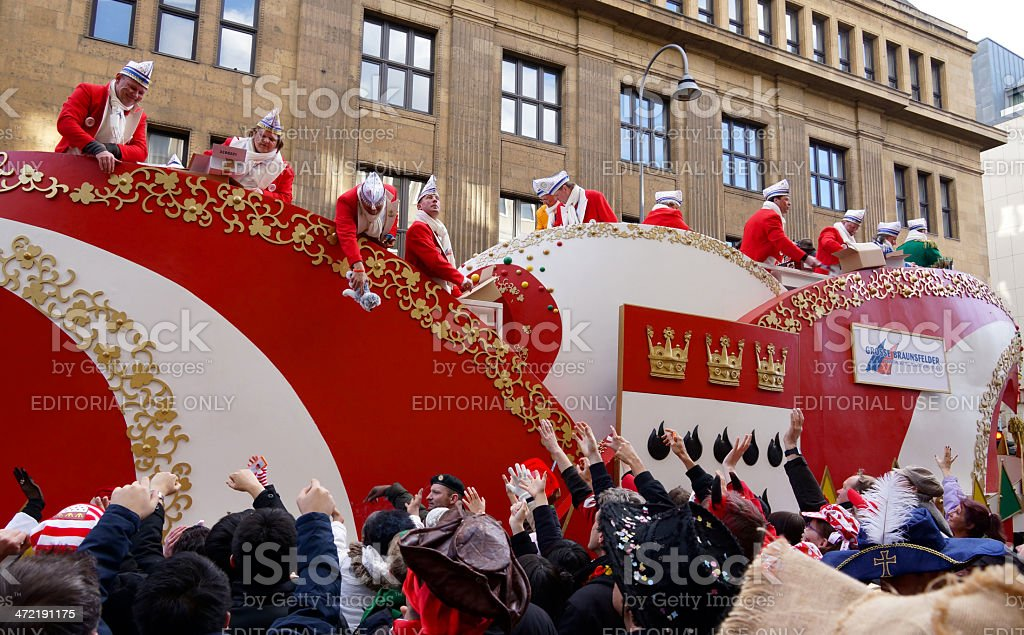Street Carnival in Cologne Germany 2014 stock photo