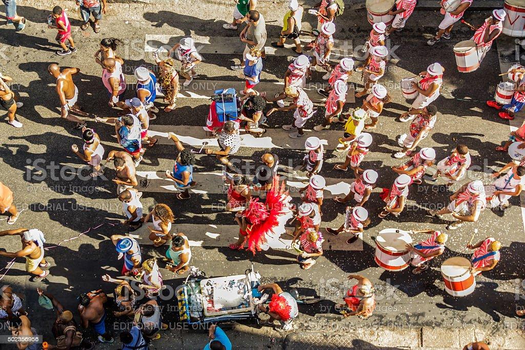 Street carnival in Rio de Janeiro stock photo