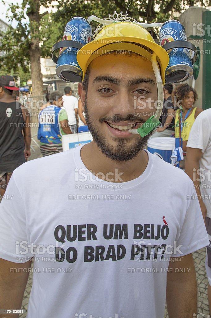 Street Carnival in Rio royalty-free stock photo