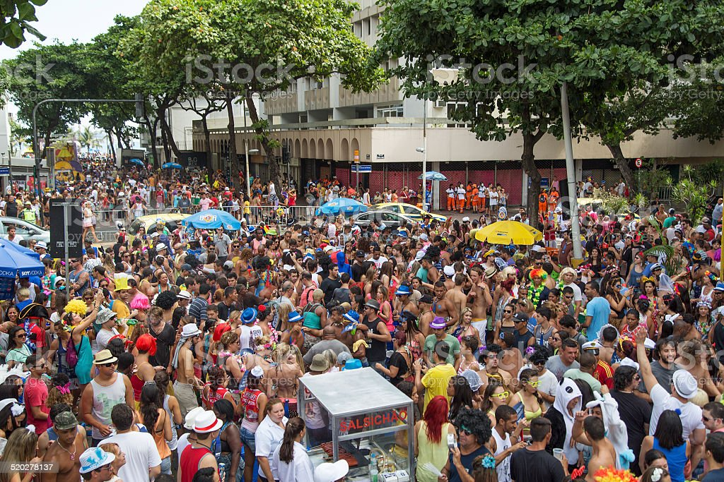 Street Carnival in Rio stock photo