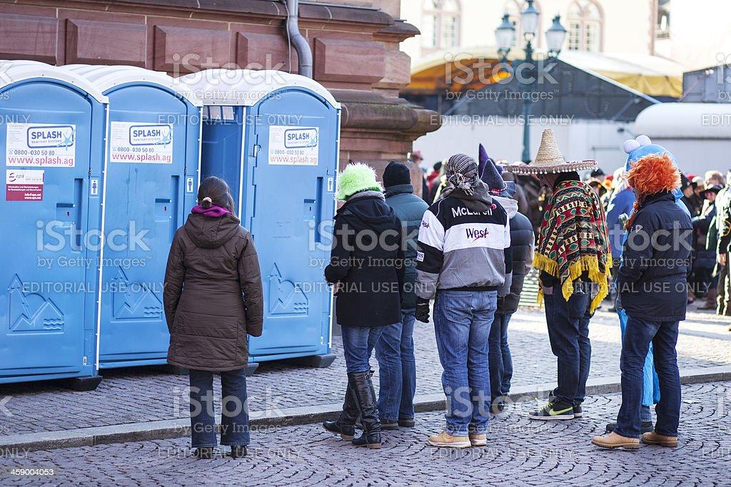Street carnival in Wiesbaden, Germany royalty-free stock photo