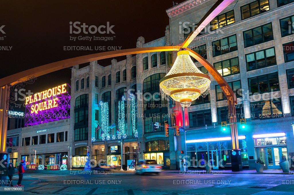 Street chandelier stock photo