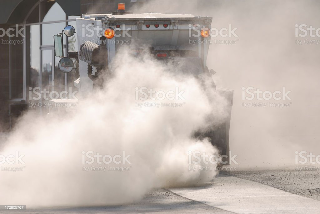 Street Cleaner, Yellowknife. royalty-free stock photo