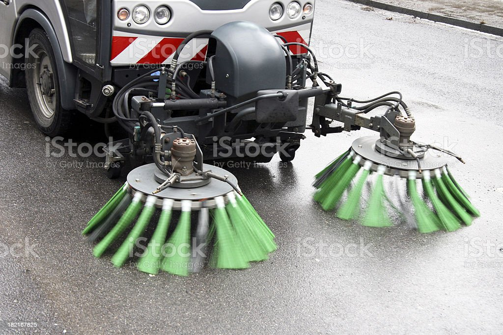 Street cleaning stock photo