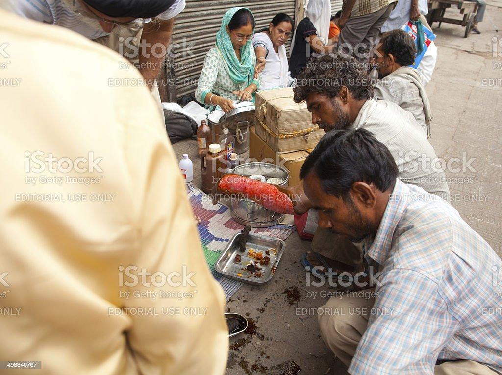 Street clinic, New Delhi, India royalty-free stock photo