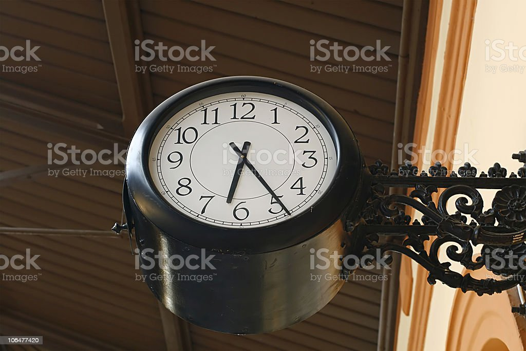 Street clock royalty-free stock photo