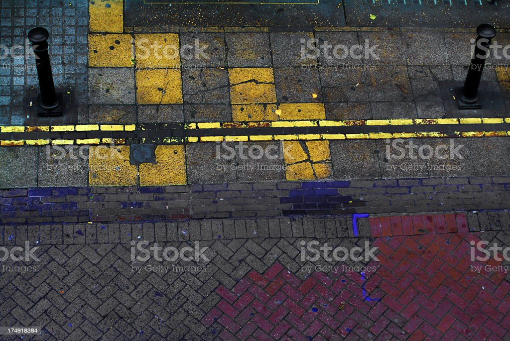 Street colours on the sidewalk royalty-free stock photo