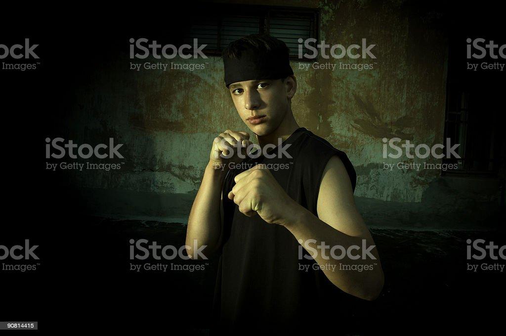 Street combat stock photo