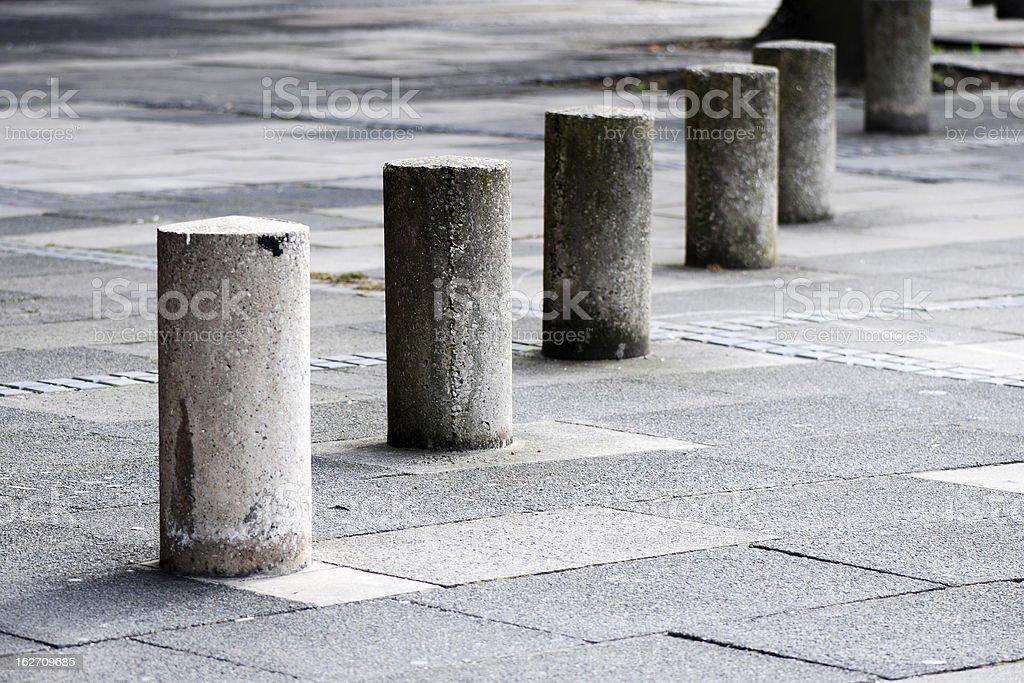 Street concrete post perspective stock photo
