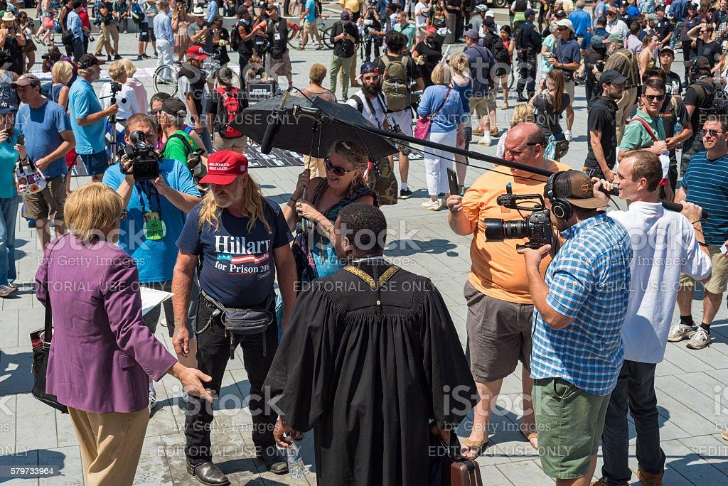 Street confrontation stock photo