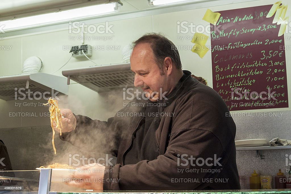 Street cook royalty-free stock photo