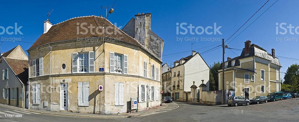 Street corner and shutters royalty-free stock photo