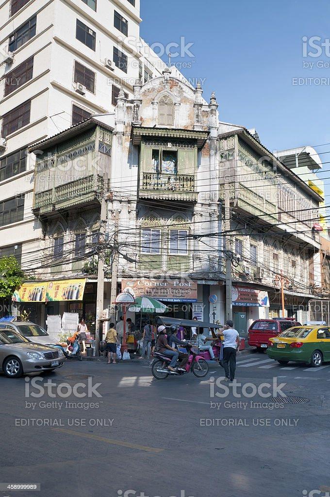Street Corner In The China Town Area Of Bangkok, Thailand stock photo