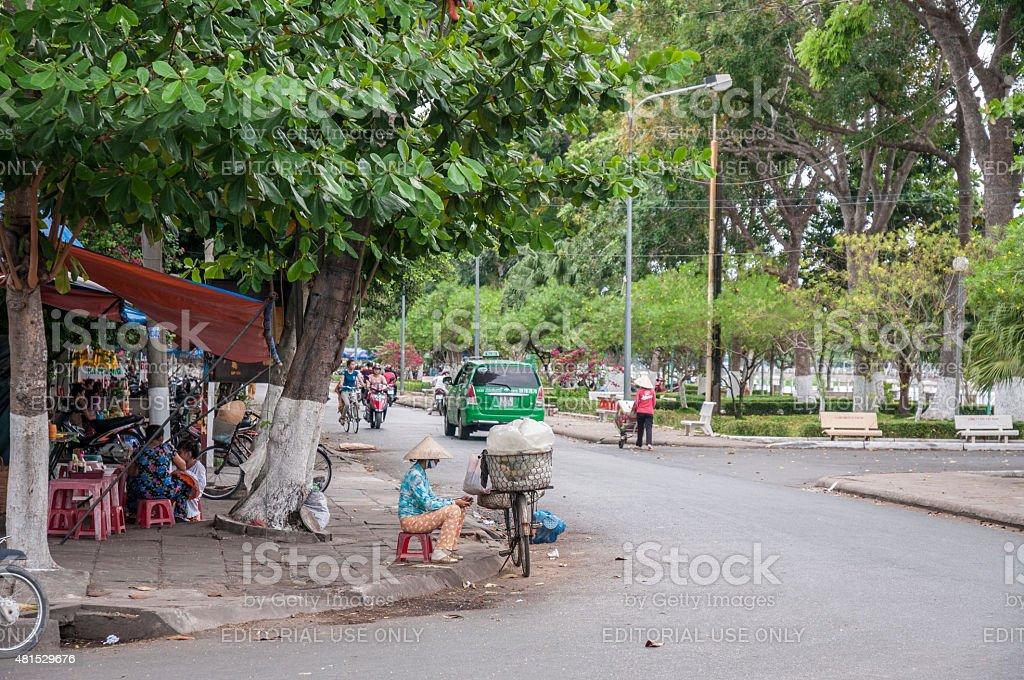 Street Corner In Vietnam stock photo