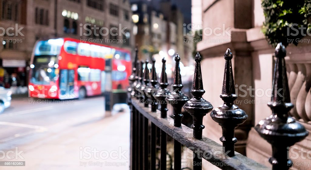 Street corner London City of Westminster by night Lizenzfreies stock-foto