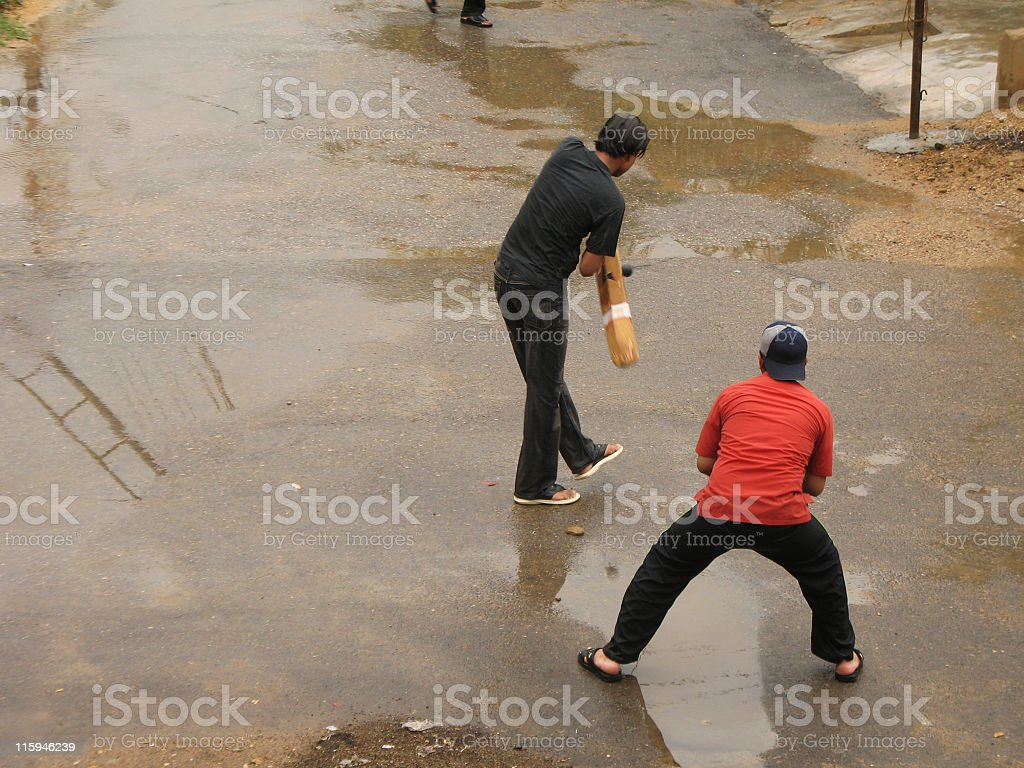 Street cricket royalty-free stock photo