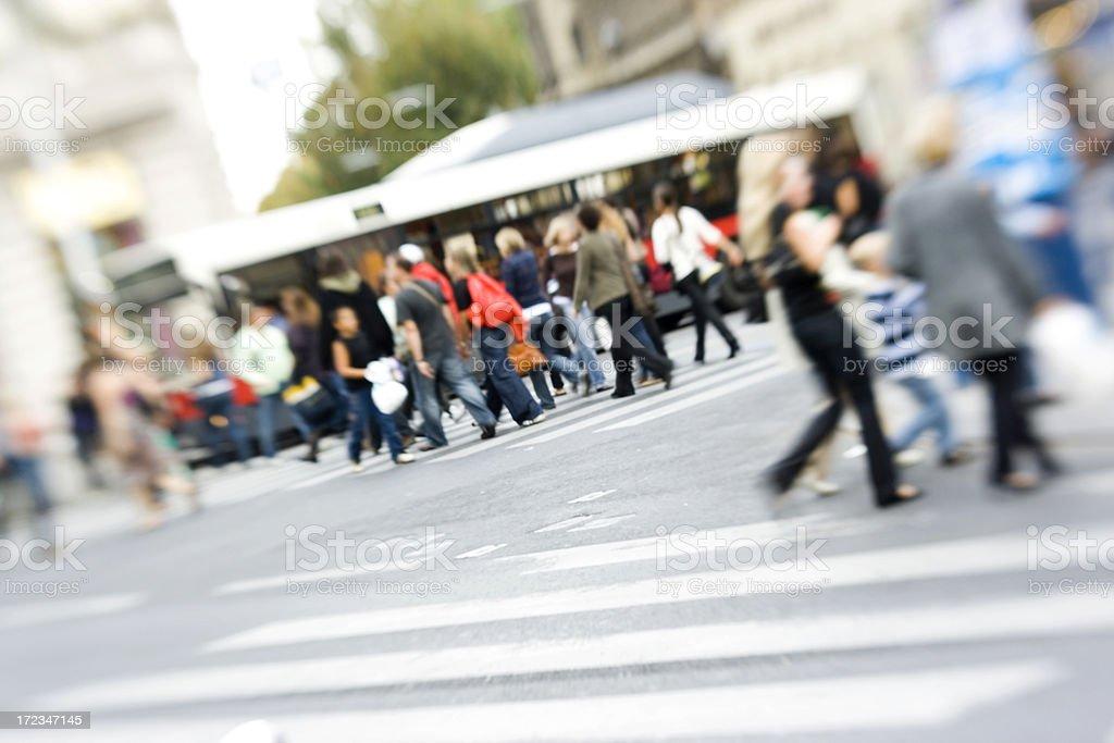 Street crossing royalty-free stock photo