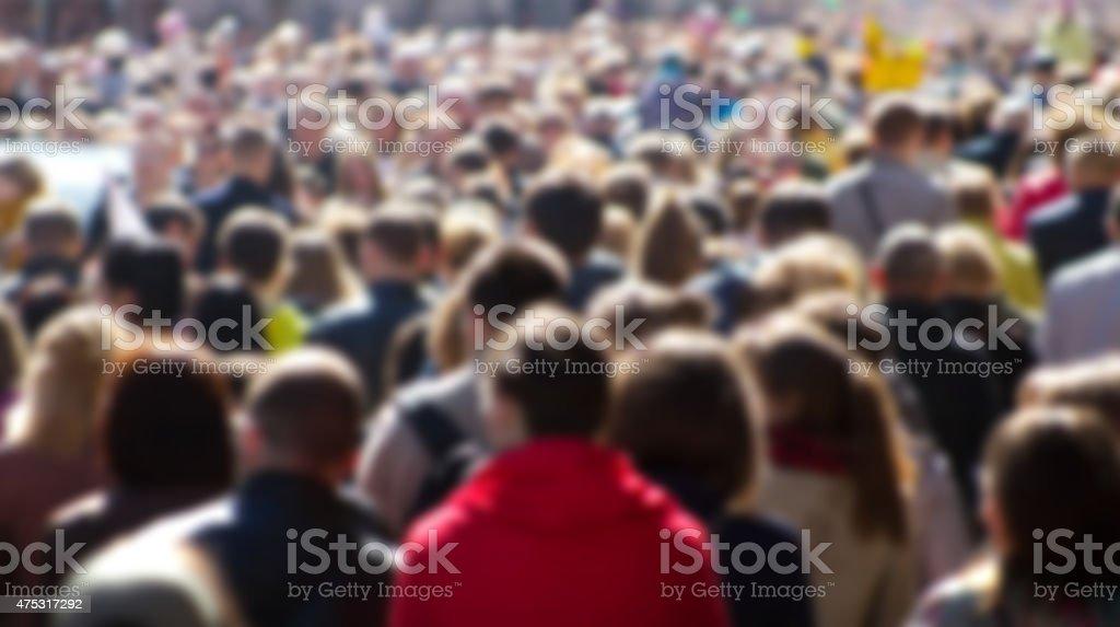 Street crowd stock photo