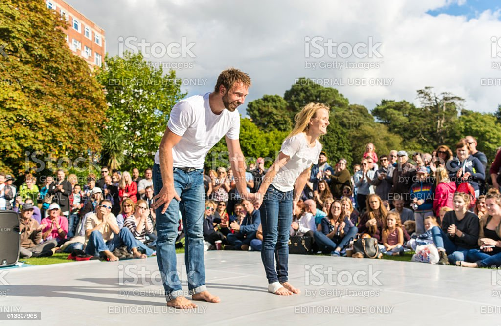 Street Dancers Bow Bournemouth 2016 stock photo